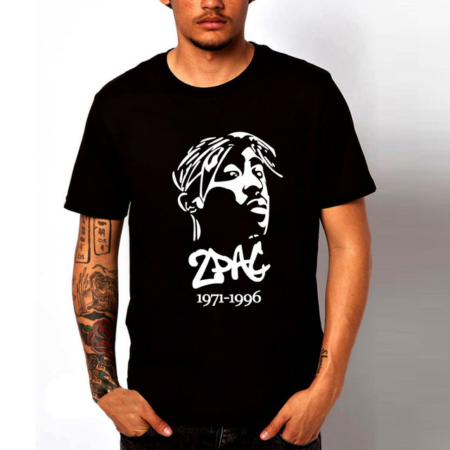 2pac logo t shirt