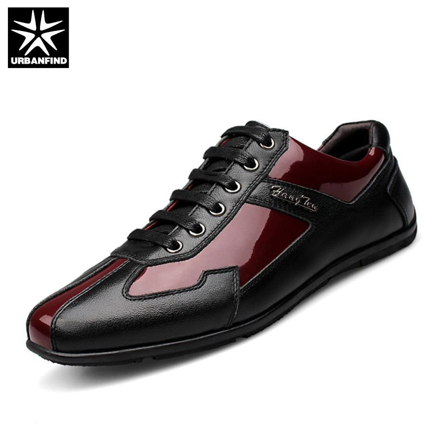 High Quality Autumn Winter Genuine Leather Men Shoes Fashion Shoes Men Casual Shoes Lace Up Flats