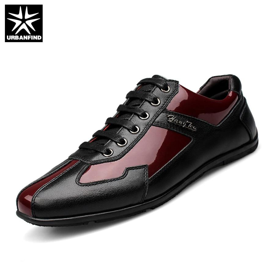 High Quality Autumn Winter Genuine Leather Men Shoes Fashion Shoes Men Casual Shoes Lace Up Flats