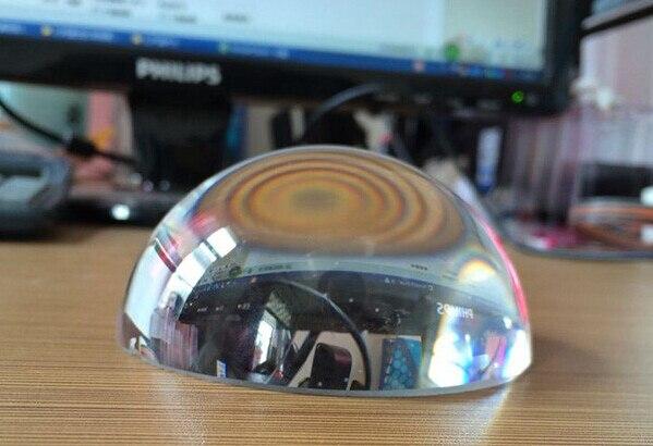 100mm 30 pcs/lot clair grammage du papier de verre, cristal grossissant cristal presse-papiers dôme de verre pour cadeaux d'affaires