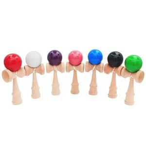 Image 3 - משלוח חינם צעצועי עץ חיצוני ספורט צעצוע כדור Kendama כדור PU צבע 18.5cm מחרוזות מקצועי למבוגרים צעצועי פנאי ספורט