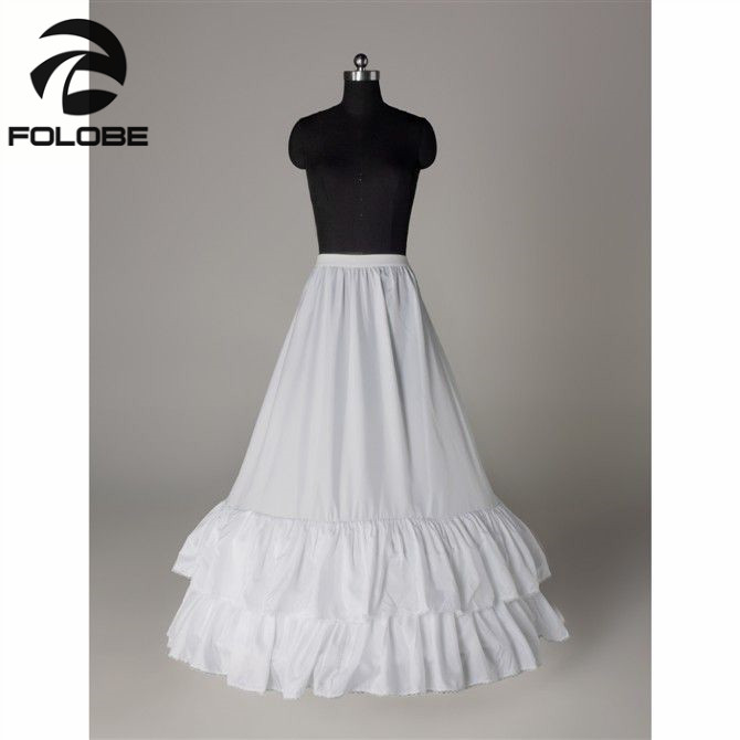 High Quality In Stock White Wedding Gown Two Hoops A-Line Petticoats/Crinoline/Underskirt Bridal Accessories Free Shipping
