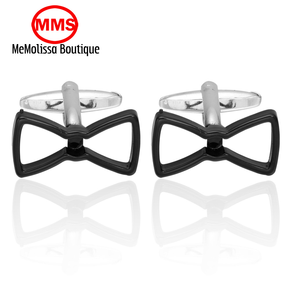 MeMolissa Black Glasses Cufflink Cuff Link 1 Pair Retail Free Shipping Promotion