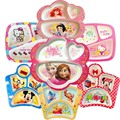 Princesa dos desenhos animados Prato Governou Talheres Para Crianças Talheres Bebê Bonito Princesa Crianças Comer Alimentação Placa De Formação