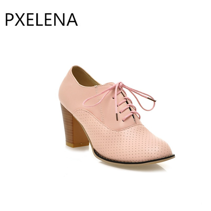 Aliexpress.com : Buy PXELENA 2017 Autumn Hot Girls Block High ...