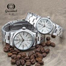 GUCAMEL Moda Casal Amantes de Relógios Homens e Mulheres Relógios De Pulso De Luxo Da Marca de Quartzo Resistente À Água Relógio Genuíno Horloges