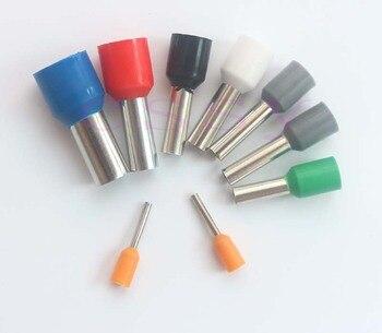 100 Uds E2510 conector de cable tubular terminales eléctricos cables crimpadores casquillos...