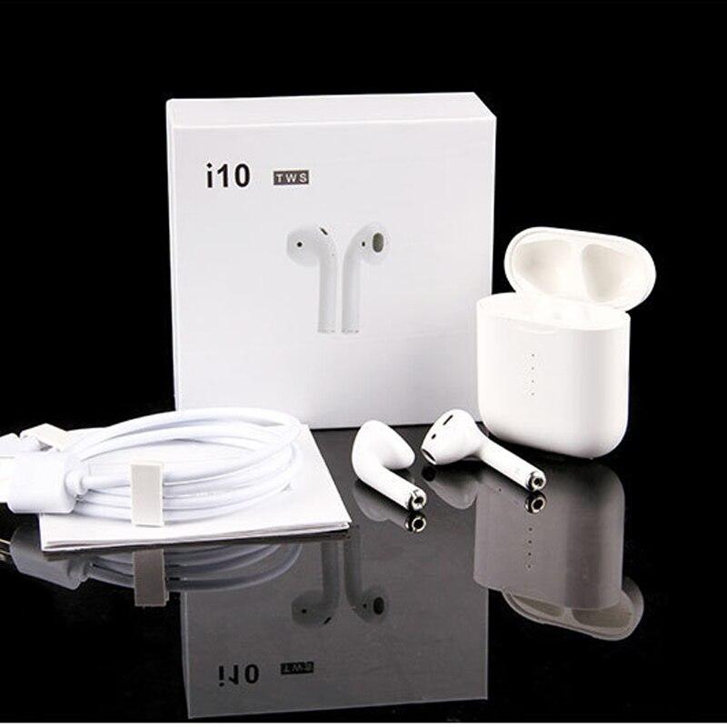 I10 TWS Double Bluetooth écouteur casque étanche sport 5.0 avec boîte de charge Mini Air pod écouteur avec micro pour Samsung