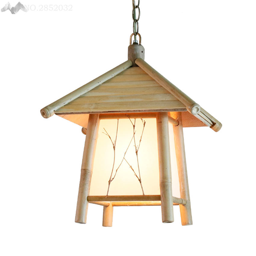LFH Southeast Asia Bamboo pendant lights house hang lamp for living room restaurant cafe Corridor balcony home lighting fixturesLFH Southeast Asia Bamboo pendant lights house hang lamp for living room restaurant cafe Corridor balcony home lighting fixtures