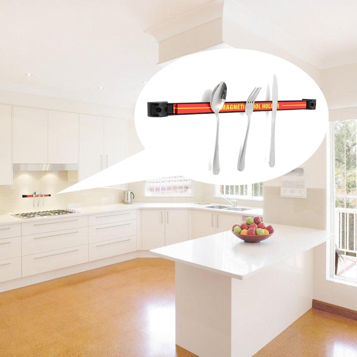 Wall Mount Magnetic Knife Scissor Storage Holder Chef Rack Strip ...
