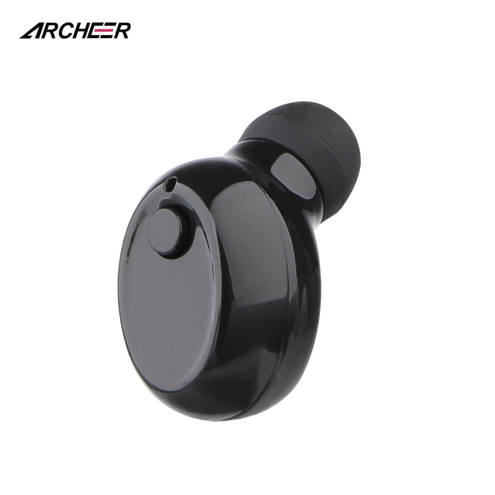 ARCHEER Hand-free Mini Wireless Bluetooth Headsets In-Ear Stereo Earbuds Portable Earphones With Microphone For Mobile Phones top mini sport bluetooth earphone for wileyfox spark earbuds headsets with microphone wireless earphones