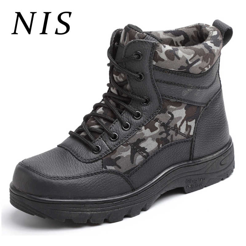 a961e31bf3aed ... NIS Lightweight Bulletproof Work Safety Shoes Thin/Plush Inner Men Boots  Steel Toe Warm Breathable ...