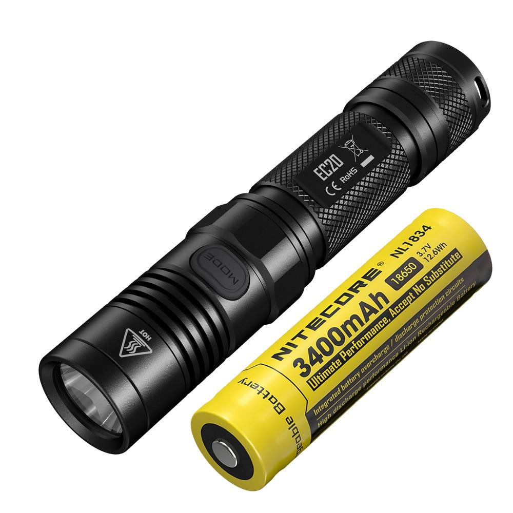 2019 Nitecore EC20 960LM Outdoor Searching 18650 Flashlight Waterproof Powerful Performance Lantern Super Bright Baton EDC