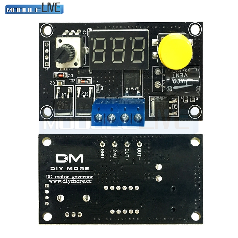 DC 6 30V 12V 24V MAX 8A LED Adjustable With Digtal Display Motor PWM Speed Controller