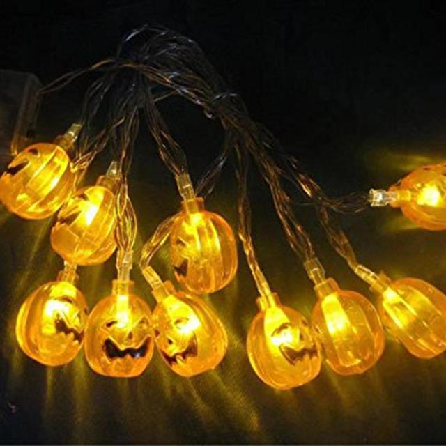 10 LED 3D Decorative Fairy String Lights Pumpkin Halloween Party Indoor  Outdoor Light Lamp-in Lighting Strings from Lights & Lighting on