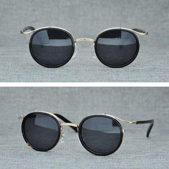 9bfd170376 Cubojue Steampunk gafas de sol hombres redondo pequeño, para hombre Vintage  Punk negro diseñador la marca Retro Nerd puntos