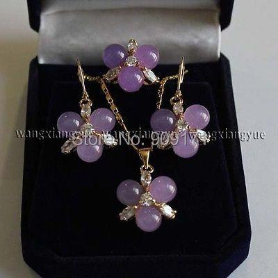 Lkiuio VCY55 envío gratis >> > 8 mm alejandrita pendientes / anillo / collar colgante conjunto