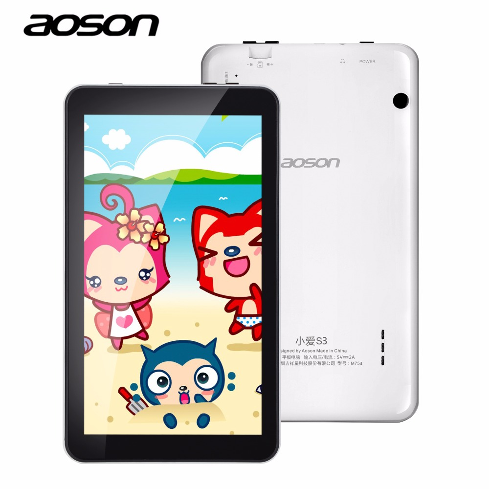 7 inch Android 6.0 Aoson M753 Kids Tablet PC IPS   1GB+16GB  Bluetooth WIFI with Parental Control Software Silicone Case gift car charger for tablet pc cube u10gt u10gt2 aoson m19 more black dc 9v