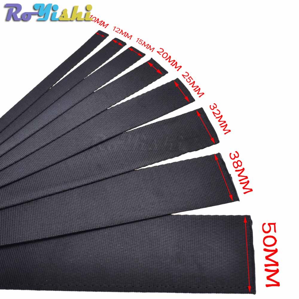 1 Yard Polyester Fibre Webbing Ribbon Band Strap Tape Dog Collar Harness Outdoor Backpack Bag Parts Black