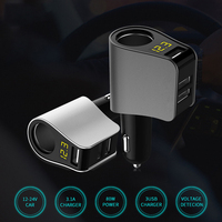 Thbelieve 3 USB Car Chargers 5V 3.1A Max Fast Charging Mobile Phone Chargers For Car Multi Port USB Car Charger Voltmeters Show
