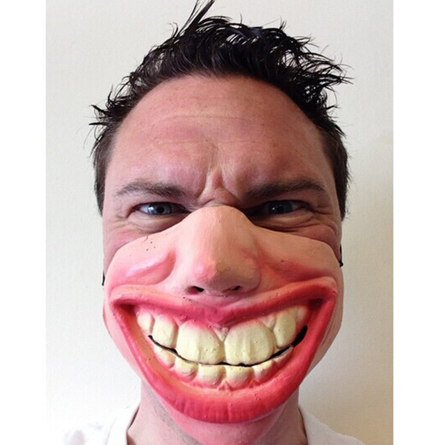 Big Teeth Laughing Scary Latex Mask