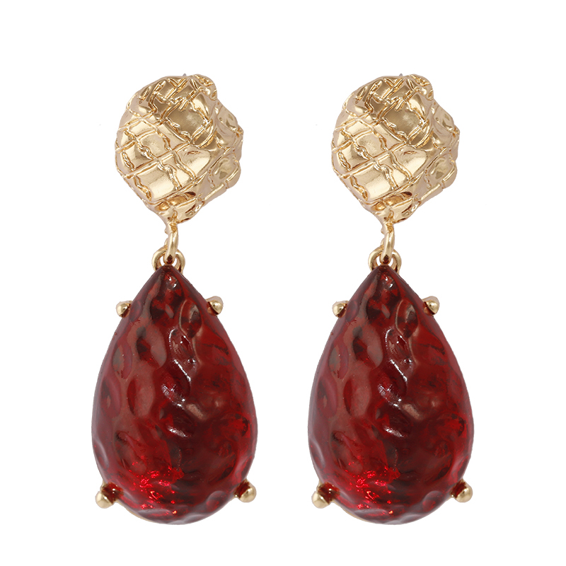 AENSOA 2019 New Vintage Big Crystal Water Drop Earrings For Women Long Large Gem Retro Statement Earrings Party Jewelry 3 Colors