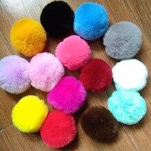 12 Pcs/lot  Cute Faux Beaver Rabbit fur Pompon Pendant DIY Handmade Fashion jewelry accessories 14 Colors