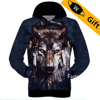 Baeybe S To 2XL Cat Dog Wolf Leopard Tiger Monkey Eagle Animal 3D Printed Men Women