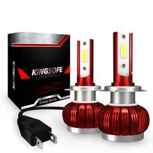 2X Mini araba ışık H7 H4 H11 H8 H1 HB3 9005 9006 H9 HB3 HB4 ampul LED far Turbo Led 8000LM 70 W/SET 6000K 12V otomatik sis lambası