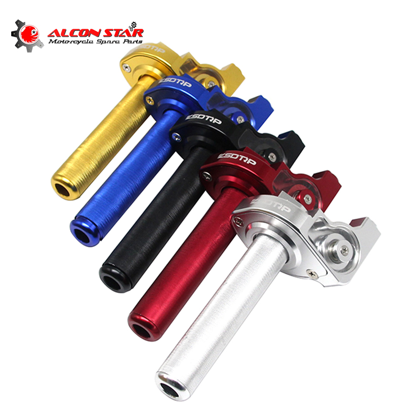 Alconstar- 22mm 7/8'' Motorcycle Throttle Grip Quick Twister Accelerator Moped For Yamaha For Honda CRF50 70 110 Dirt Bike Race