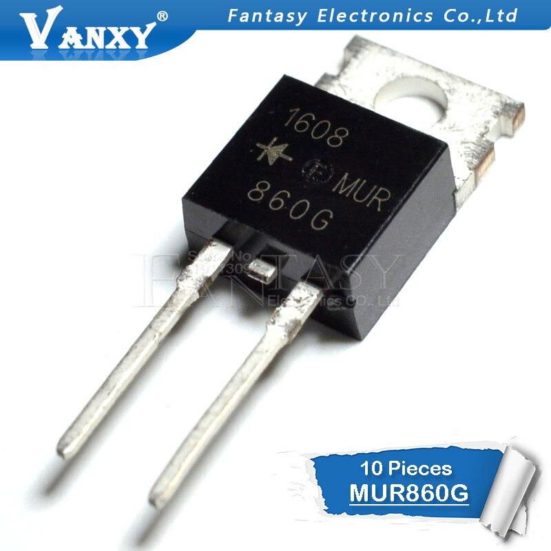 10pcs MUR860 TO220 MUR860G TO-220 U860