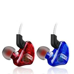 Image 2 - Fonge auriculares T01 transparentes, intrauditivos Subwoofer estéreo de graves con micrófono para teléfono inteligente HTC y Huawei