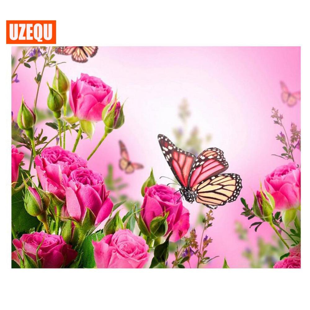 UzeQu Full Diamond výšivky 5D DIY Diamond malba Cross Stitch - Umění, řemesla a šití