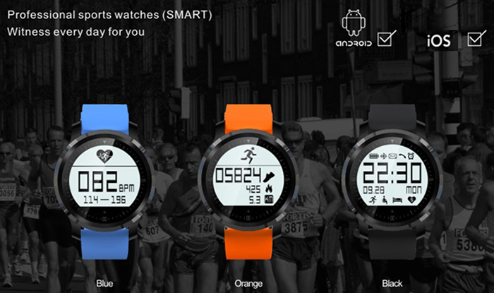 F68 Bluetooth 4.0 Sport Smart Watch Heart Rate Track Wristwatch 1.5 Inch Touch Screen Waterproof IP67 Watch For IOS Android (9)