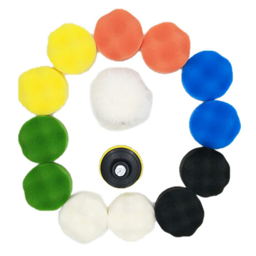 Image 3 - Polishing Buffing Pad Auto Car Polishers and Buffers Wax Set Pack Of 15 Pcs +M10 Drill Adapter Kit-in Abrasive Tools from Tools