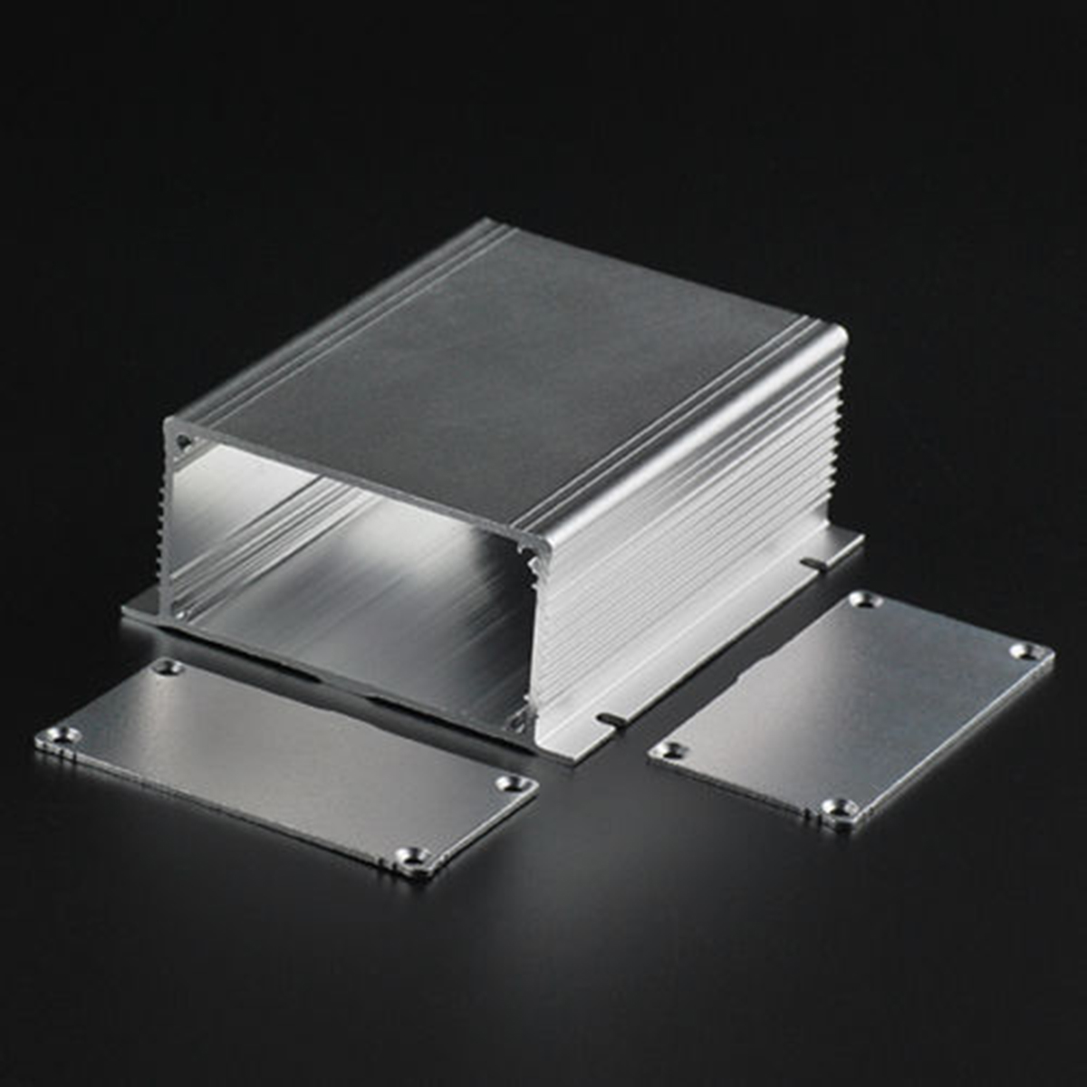 Electronic Aluminum Enclosure Silver Extruded Power PCB Instrument Box Case 88x39x100mm наборы для поделок djeco танграм магнитный