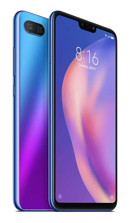 Xiao mi mi 8 Lite, Version globale, bande 4G/LTE/WiFi, double SIM, 6 4 go de mémoire intégrée, 4 go de Ram, (15,9 cm (PA