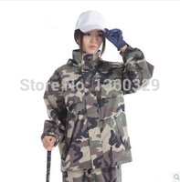 Top Outdoor Men Woman Raincoat Digital Camouflage Rain Coat Women Double layer Waterproof impermeables Motorcycle capa de chuva
