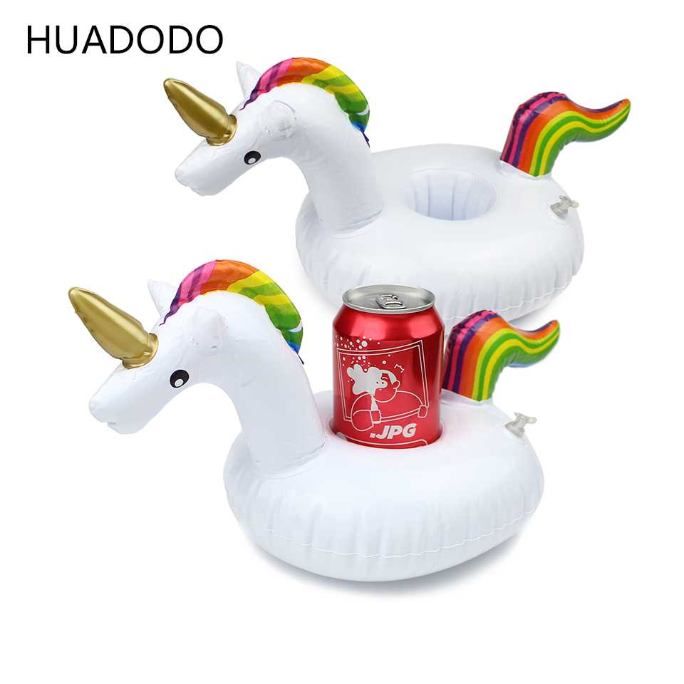 HUADODO Unicorn Inflatable Cup Holder Pool party For Wedding Decorations Floating Party Supplies swimming Toy