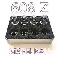 Abec11 Si3n4 Hybrid Ceramic 608 Inline Skate Bearing 608 2rs Skateboard Speed Skate Bearing Roller Skating