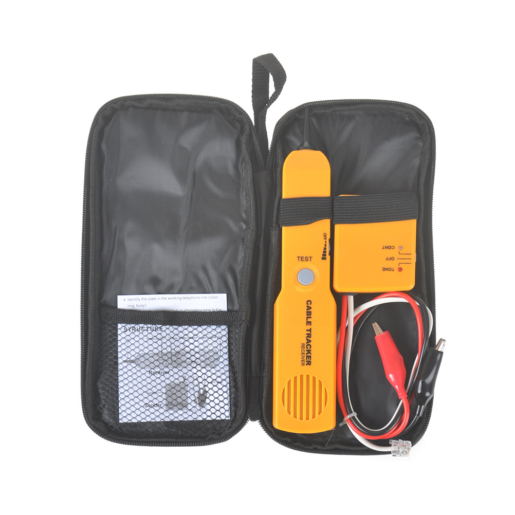 Portable tool Set RJ11 Network Phone Telephone Cable Tester Toner Wire Tracker Tracer Diagnose Finder Detector Networking Tools