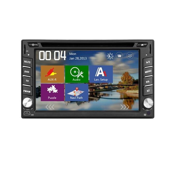 Venta caliente Electrónica Del Coche 2din coches reproductor de dvd GPS Radio Blutooth RDS tv digital Sintonizador PC Monitores de Vídeo para universal (opcional)