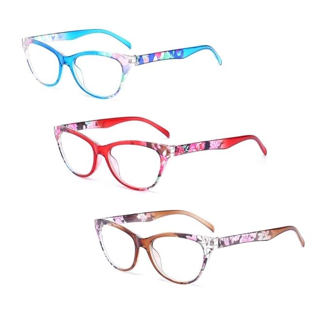New Women Reading Glasses Vintage Reader Fashion Flower Print +1.00/+1.50/+2.00/+2.50/+3.00/+3.50/+4.00
