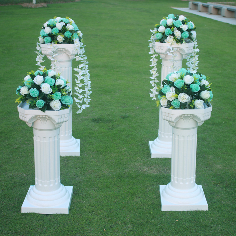 Wedding Flower Pillars: 4pcs/lot Wedding Plastic Roman Column Plastic Pillars