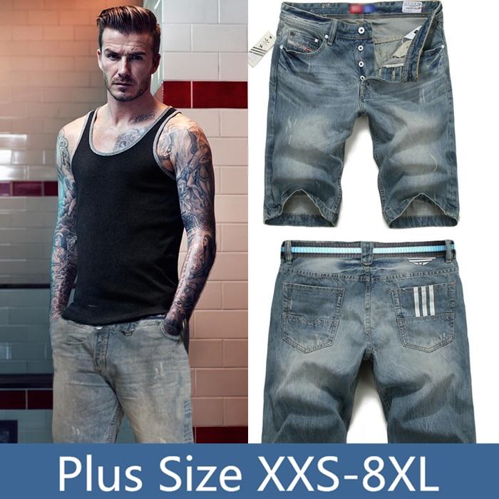 Summer style david beckham short jeans for perfume men for David beckham t shirt brand