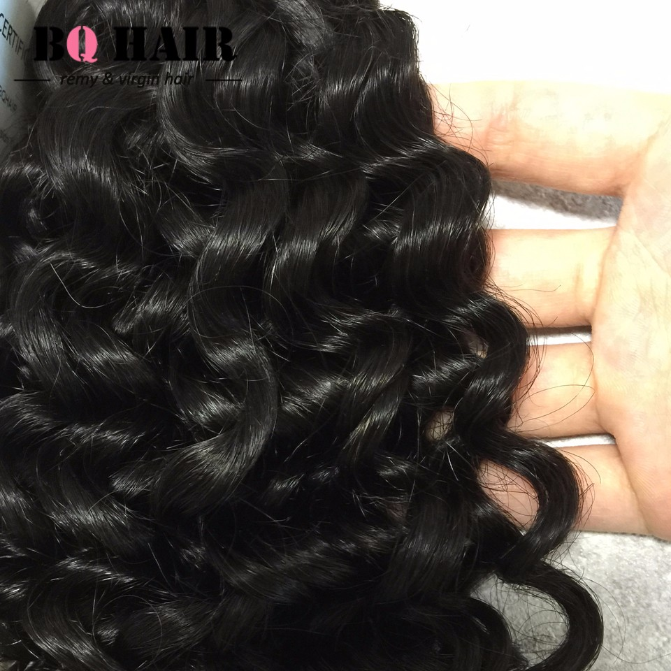 Malaysia Deep Curly Human Hair Weave Bundles 8A Remy Hair Cheap Bundles  (5)