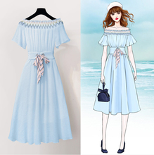 Spring and summer new style national wind dress Temperament straps chiffon fashion