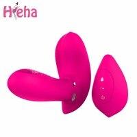 Hieha Geschlecht Spielt für Frau Zauberstab g-punkt Vibrator Drahtlose Fernbedienung Schmetterling Vibratoren Lade Vibrierenden Körper Massager