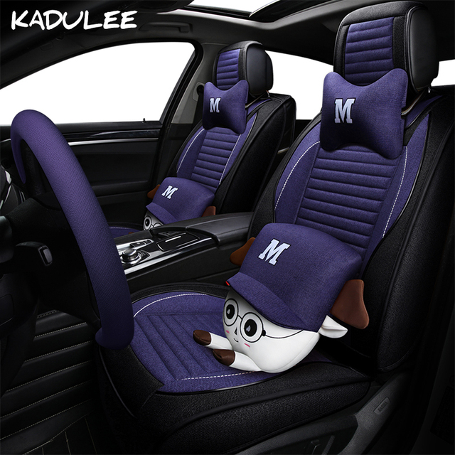Kadulee Flax Auto Car Seat Covers For Jeep Grand Cherokee Bmw X1 X3 X4 X5 X6 Skoda Kodiaq Volvo S60 Accessories Styling