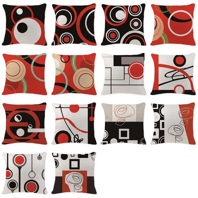 Modern Art Chair Covers And Linens James Harrison Luxury Cushion Case Abstract Line Pillowcase Seat Sofa 18 Custom Linen Home Decor